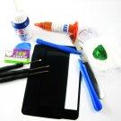 Front Glass Screen+Repair Tools Glue Set for Samsung Galaxy S2 i9100~Black 03667-MSTSi9100nB-TG