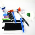 Front Glass Screen+Repair Tools Glue Set for Samsung Galaxy S2 i9100~White 03668-MSTSi9100nW-TG