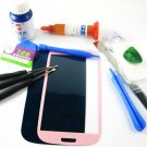 Front Glass Screen+Repair Tools Glue Set for Samsung Galaxy S3 i9300 i9305~Pink 03674-MSTSi9300nI-TG
