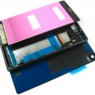 Full LCD Display+Back Battery Cover+Frame For Sony Xperia Z3 D6616~Black 03741-MECLXperiaZ3B