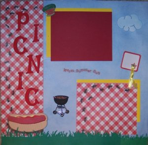 Premade 12 X 12 Scrapbook Pages