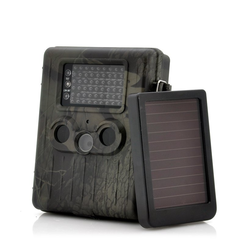 """Game Camera With Rechargeable Battery + Solar Panel """"SolarTrail"""" - 1080p HD video, PIR Motion"""