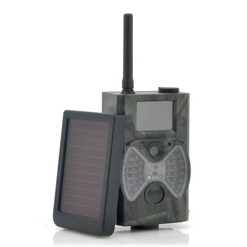 "Game Hunting Camera With Solar Panel ""Solar-Shot"" - 1440x1080, PIR Motion Detection, Night Vision"