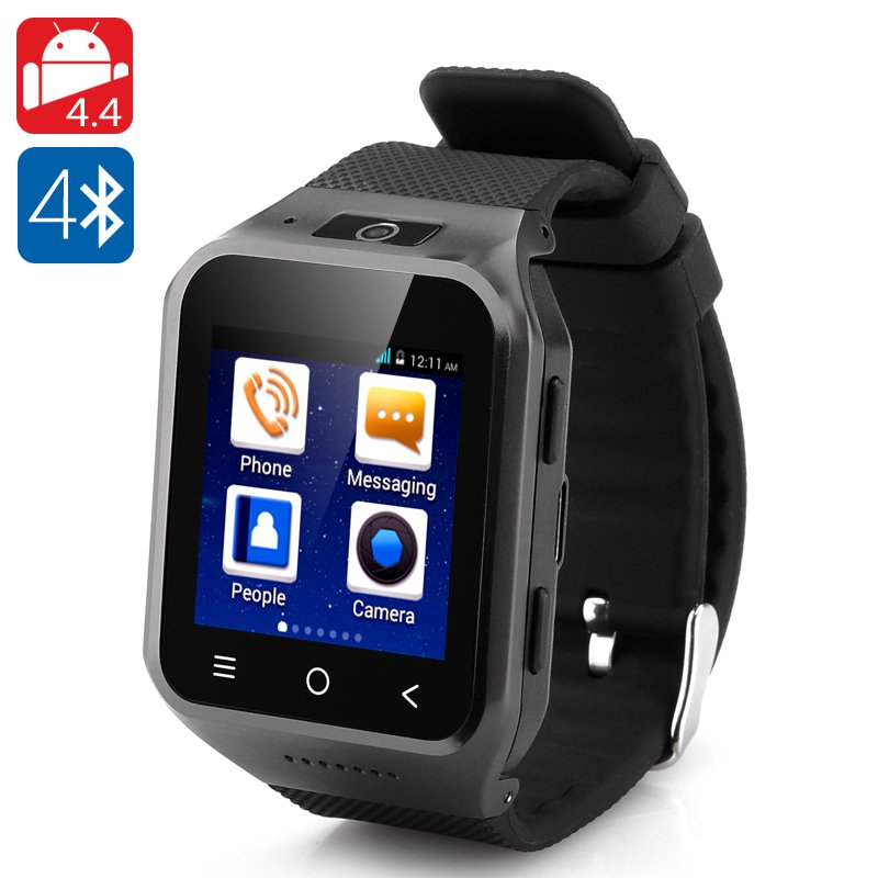 ZGPAX S8 Android 4.4 Watch Phone Dual Core CPU, 3G, 4GB, 2 Mp 1.54 Inch