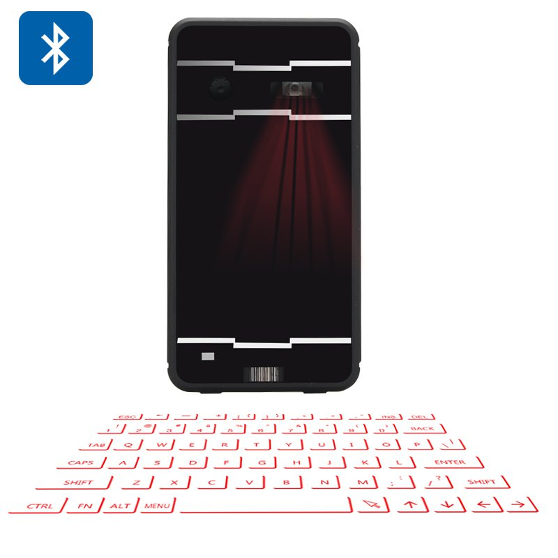 Wireless Laser Projection Keyboard With Mouse And Bluetooth Speaker, For Android + Windows