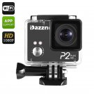 Dazzne P2 Plus Sports Action Camera 2K HD, 170 Degree Lens, Wi-Fi, Waterproof Case, 2 Inch TFT