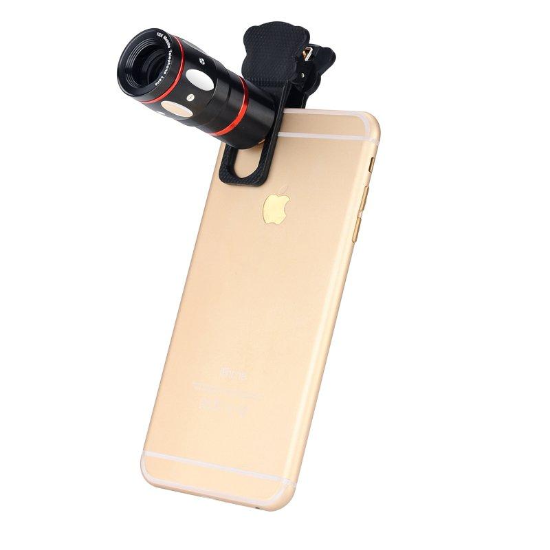 Universal 4-in-1 Cell Phone Lens Kit X10 Telescopic Lens, Fisheye Lens, Macro Lens, Wide Angle Lens