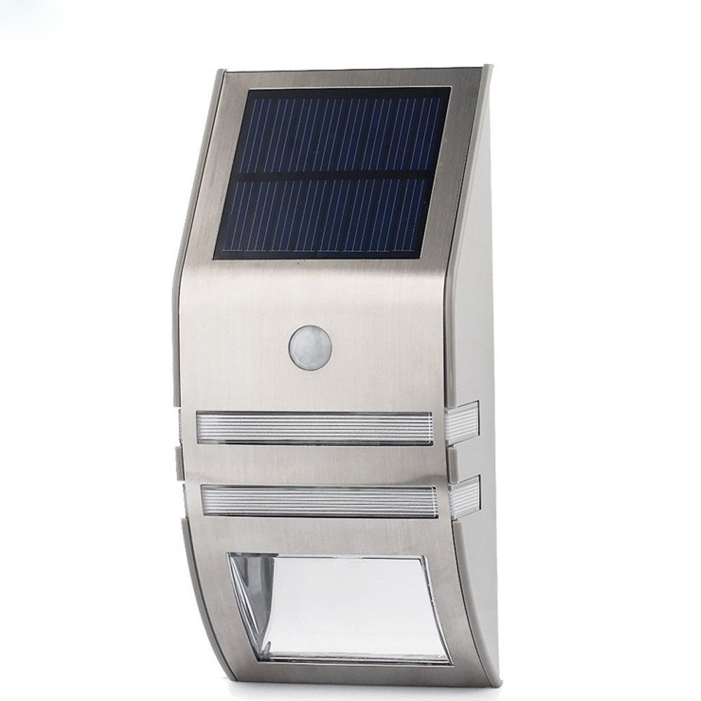 Outdoor Solar Powered LED Security Light 5.5V Polycrystalline Panel, Motion Detection, 50 lumens
