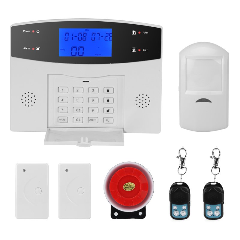 Danmini Security Alarm System - GSM, SMS Notifications, 8 Wired + 99 Wireless Defense Zones