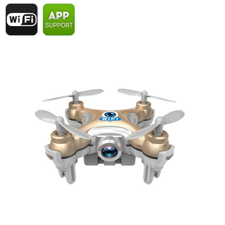 CX-10W Mini Drone 30M Range, 6-Axis Stabilizing Gyro, 2.4GHz Wi-Fi Control, Android & iOS Compatible