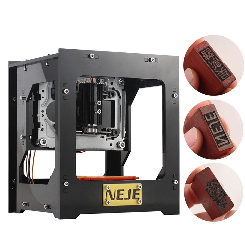 NEJE DK-8-KZ High Speed Laser Engraver - 1000mW, Custom Software, Windows Support, 512x512