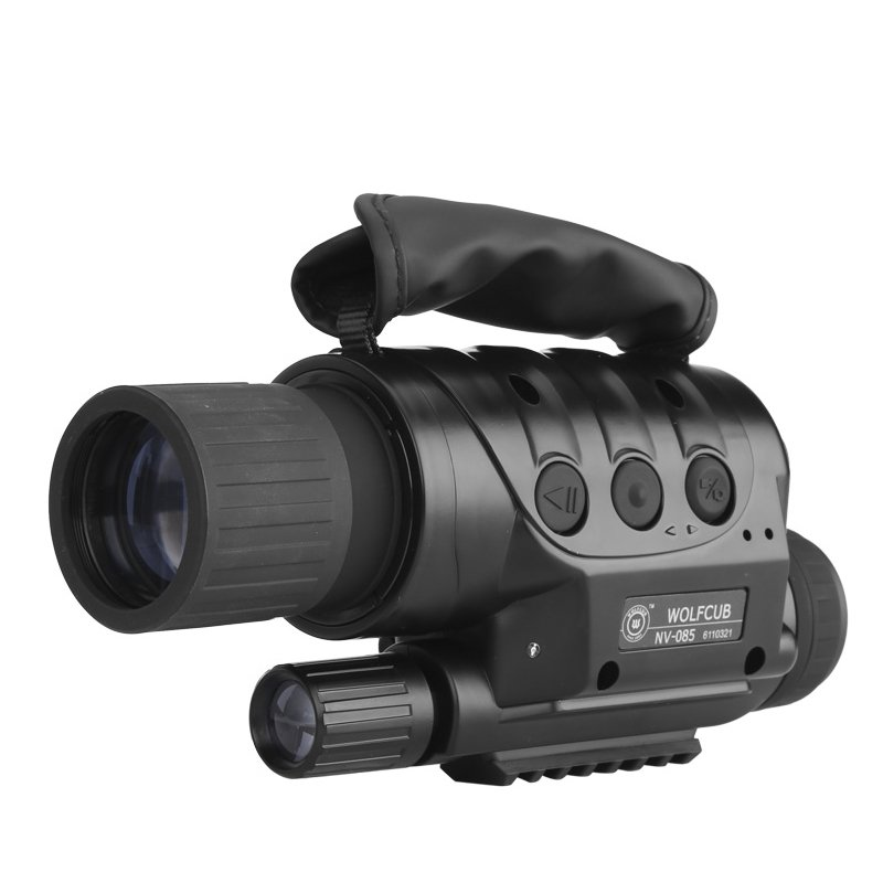 NV-440D+ Night Vision Monocular - 560M range, 4 x Zoom, 16GB Micro SD, 1.3MP CCD, Built-in Camera