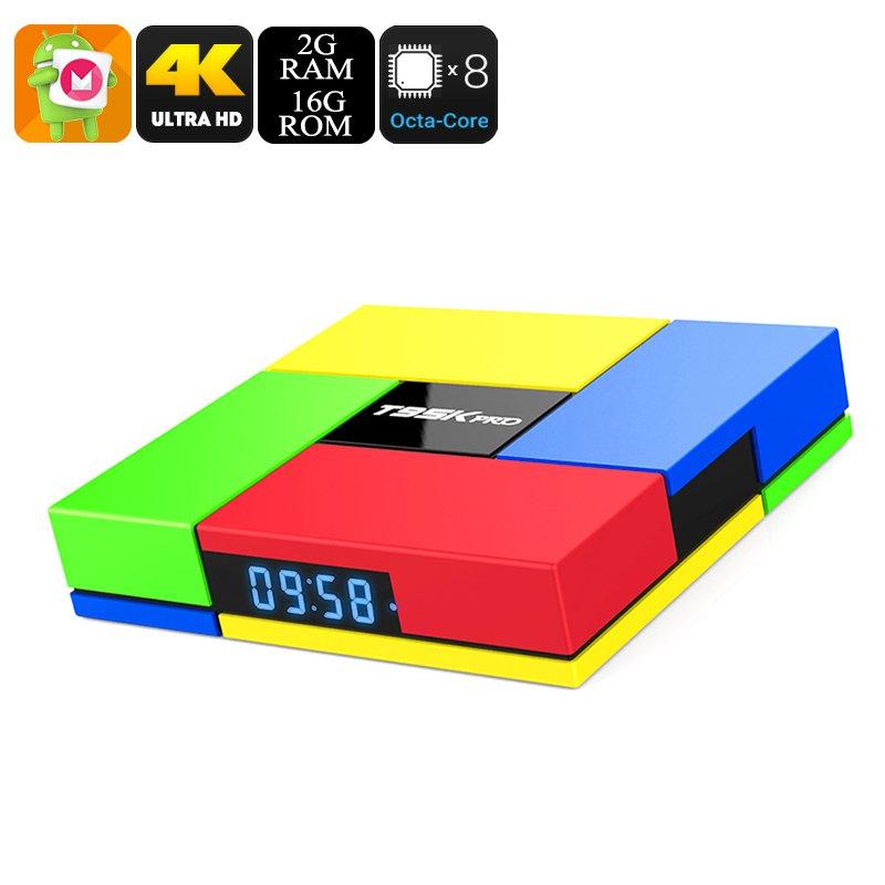 4K TV Box - Android 6.0, Google Play, KODI 16.1, 4K Resolution, 2GB RAM, Octa-Core, Mali-T820 GPU