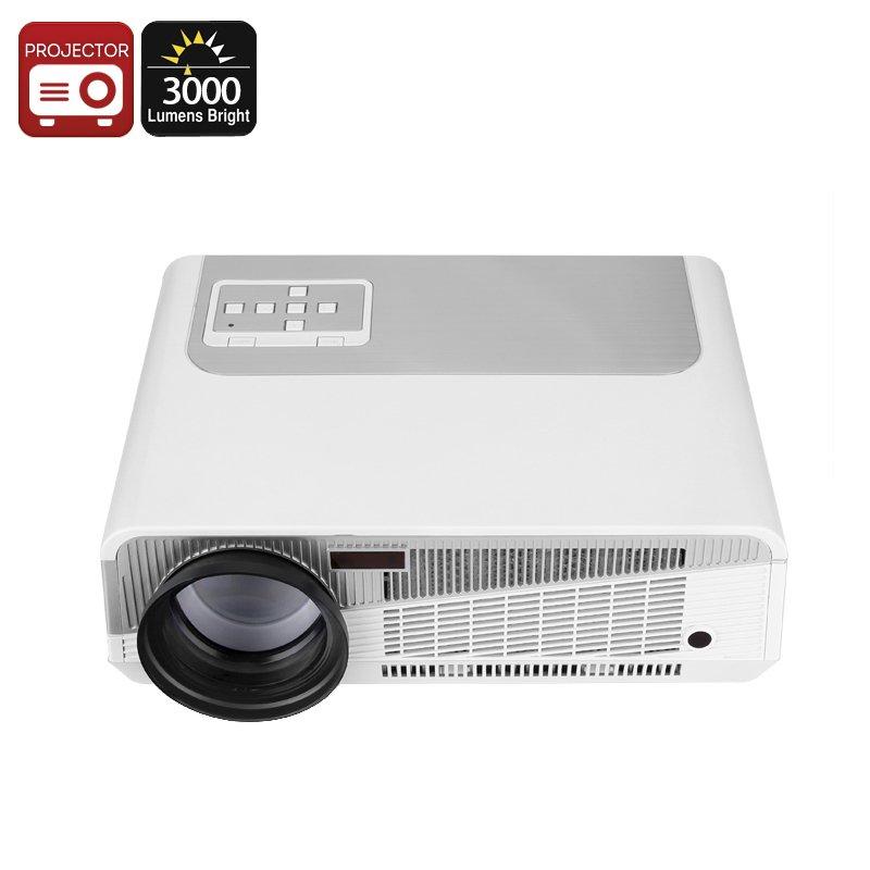 3000 Lumen HD Projector 'Matrix' 5.8 Inch LCD, 60 to 120 Inch Display, 2000:1 Contrast Ratio, HDMI