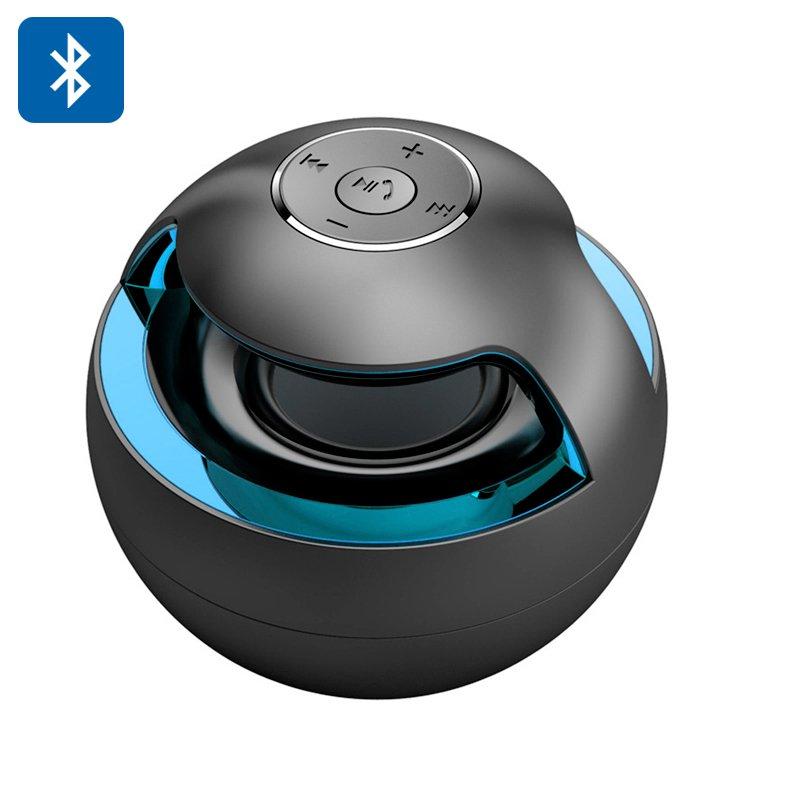 Portable Bluetooth Speaker �Magic Black Ball� Stereo Sound, LED lights, + EDR, 500mAh