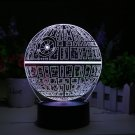 Star Wars Death Star 3D LED Lamp - Holographic Lamp, 2 Light Modes, 7 Colors.