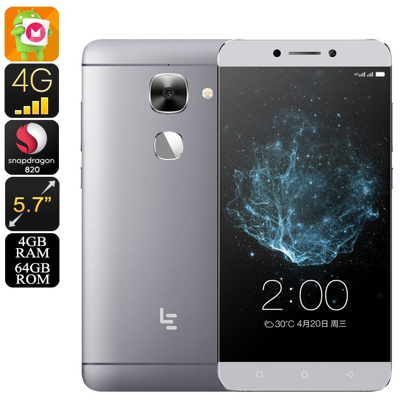 LeEco LeTV Le Max 2 Android 6.0 Phone - 2K Display, Snapdragon 820 CPU, 4GB RAM, 21MP Cam