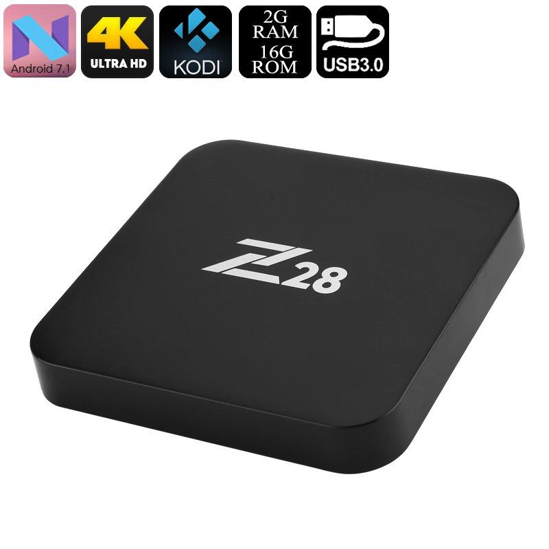 Z28 Android TV Box - 2GB RAM, Qaud Core CPU, 4Kx2K, RKMC Media Player, Miracast, Wi-Fi