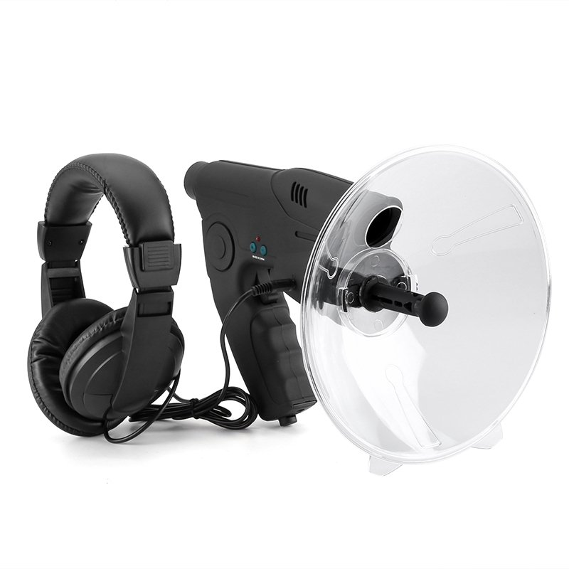 Sound Amplifier - 100m Range, 8x Zoom Monocular, Sound Recording, Playback, 3.5mm Headphone Jack