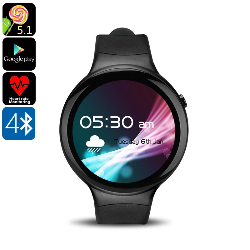 Phone Watch IQI I4 - Bluetooth, Android, 3G, WiFi, Pedometer, Sedentary Reminder, Heart Rate, Quad-C