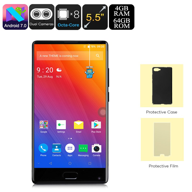 Doogee Mix Android Phone Octa-Core, 4GB RAM, 5.5-Inch Small Bezel Display, Dual-IMEI, 4G