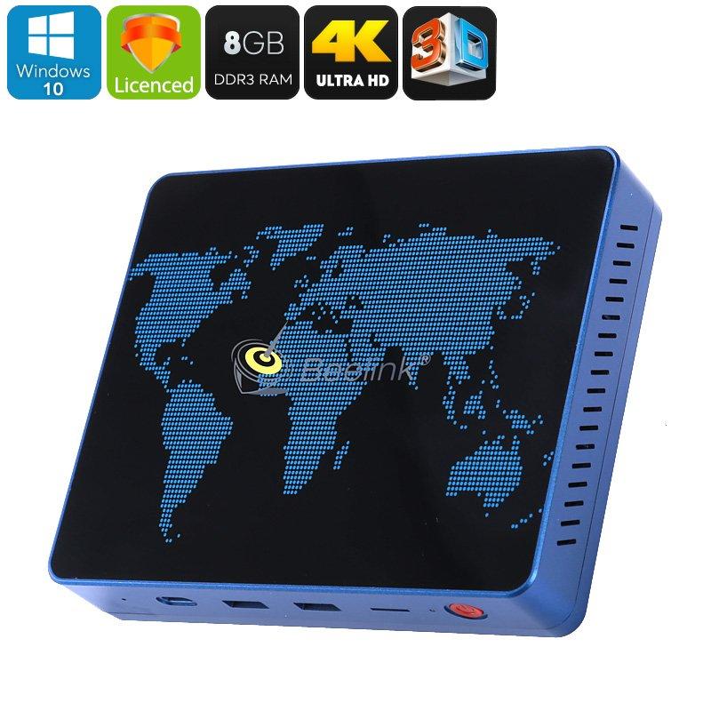 Beelink S1 Mini PC - Licensed Windows 10, Intel Apollo Lake, 8GB DDR3 RAM, 4K Support, 3D Movie