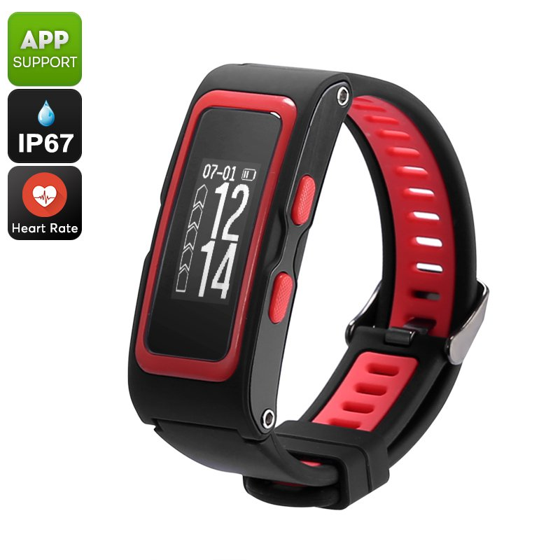 Fitness Tracker Bracelet Heart Rate, Pedometer, GPS, Waterproof, Real-Height, Pressure, Temperature