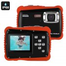 Powpro Kfun PP-J52 Underwater Camera - IP68, HD Video, 5MP Picture, 2-Inch Screen, 32GB SD Card