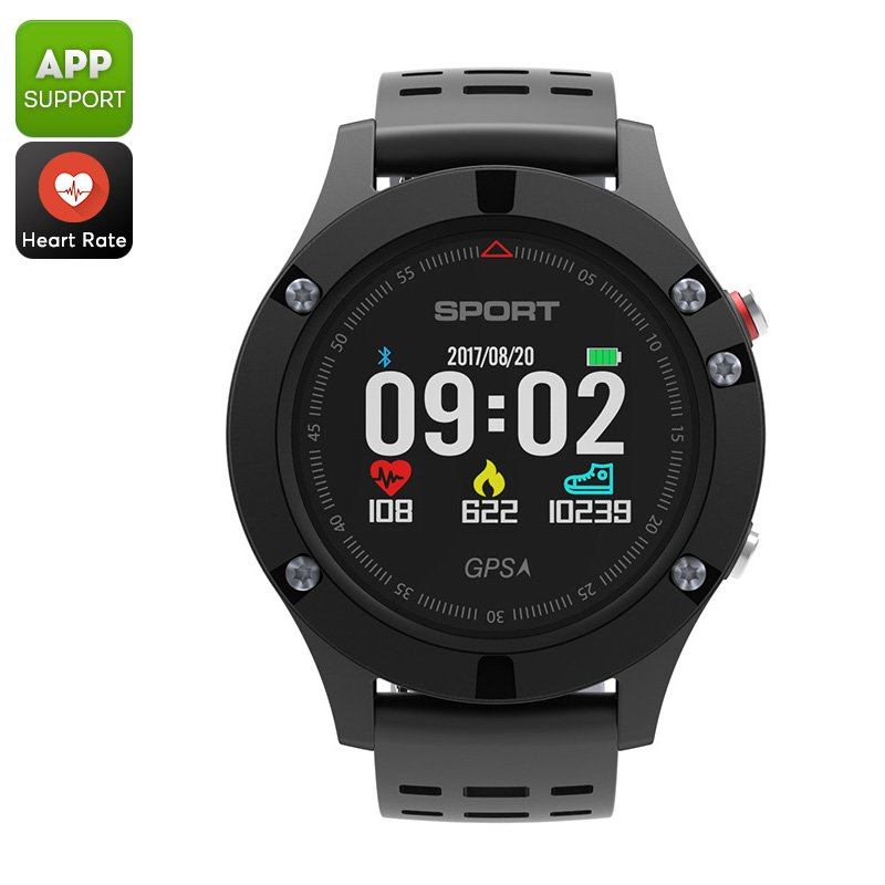 No.1 F5 Bluetooth Watch - Pedometer, Sleep, Heart Rate, Barometer, Thermometer, Altimeter, IP67, APP