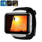 DM98 Watch Phone - Android OS, 1 IMEI, Bluetooth 4.0, WiFi, 3G, Built-In Mic, Speakers, 1.3MP