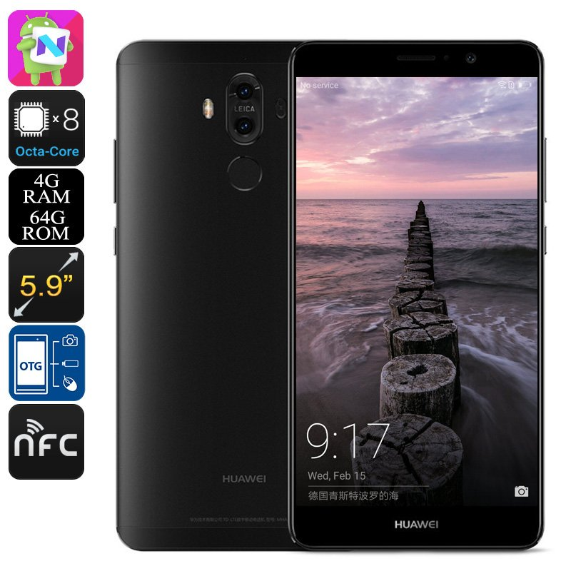 Huawei Mate 9 Android Smartphone - Android 7.0, Leica Dual-Camera, Octa-Core, 4GB RAM, 5.9-Inch, OTG