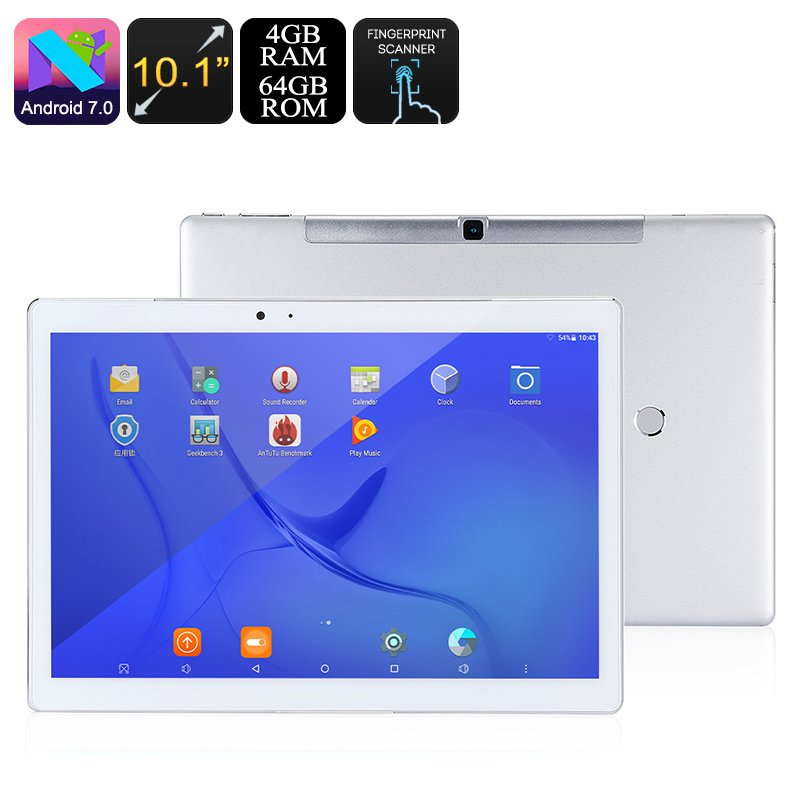Teclast Master T10 Tablet PC -Android 7.0, Hexa Core, 4GB RAM, Fingerprint, 10.1 Inch, Wi-Fi, 64GB