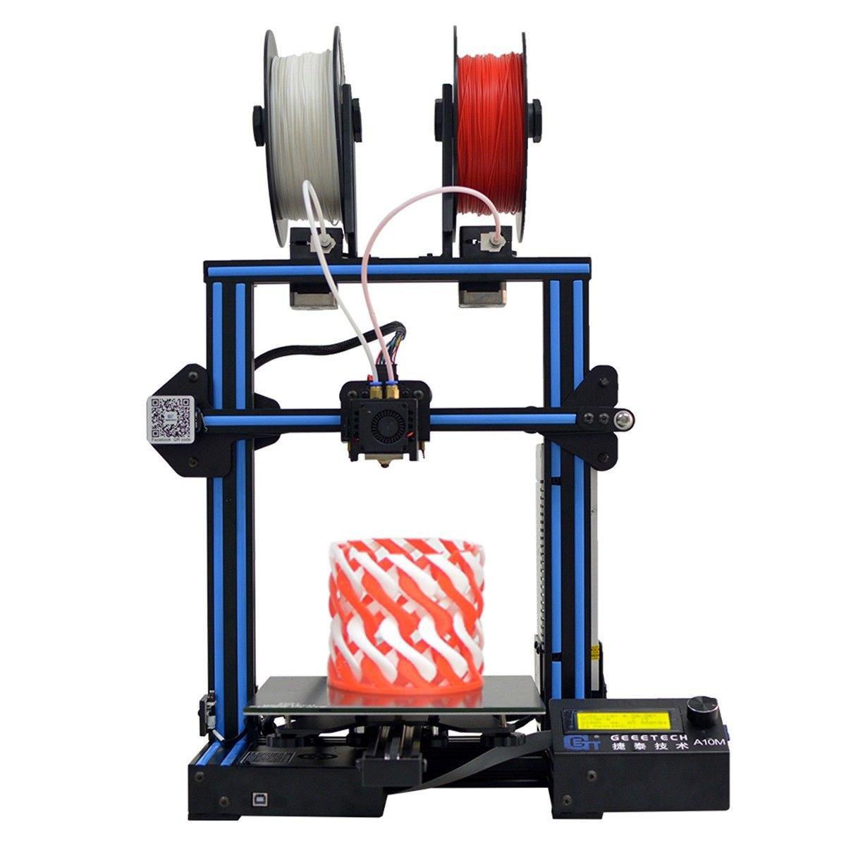 Geeetech® A10M Mix-color Prusa I3 3D Printer 220*220*260mm Printing Size Dual Extruder/Filament