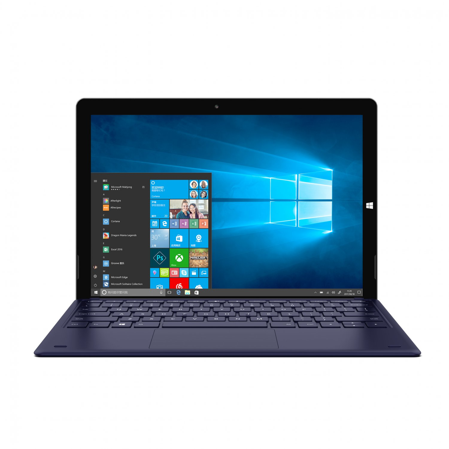 Teclast X6 PRO Windows10 12.6 Inch Display 8GB RAM 256GB ROM Dual Camera HDMI 2 in 1 Tablet Silver