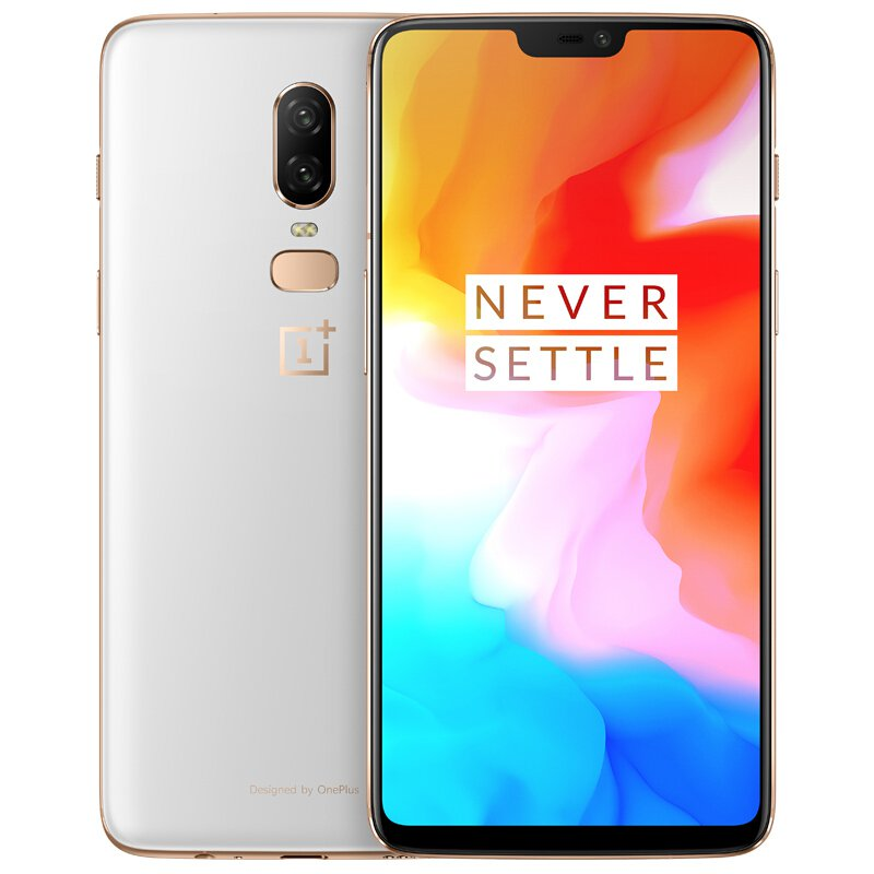 Oneplus 6 Smartphone 8GB+128GB 20MP+16MP AI Dual Camera Face Unlock Chinese OTA Crescent