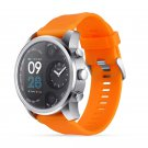 Sport Smart Watch Stainless Steel Fitness Activity Tracker IP68 Waterproof Smartwatch Silver&Orange