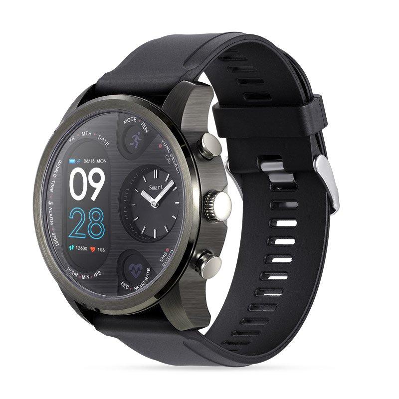 Sport Smart Watch Stainless Steel Fitness Activity Tracker IP68 Waterproof Smartwatch Black