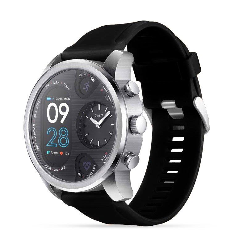 Sport Smart Watch Stainless Steel Fitness Activity Tracker IP68 Waterproof Smartwatch Silver&Black