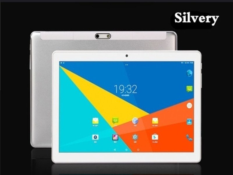 S10 10.1 Inch 2.5D Screen 4G-LTE Tablet PC Android 8.0 8+128GB Dual SIM Tablet PC Silver