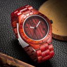 Men Fashion Waterproof Wood Watch Pointed Quartz Movement Wristwatch Watch 1#