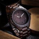 Men Fashion Waterproof Wood Watch Pointed Quartz Movement Wristwatch Watch 1#