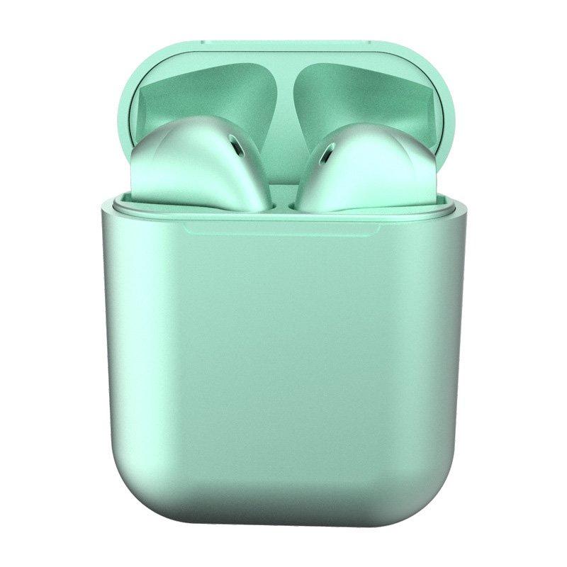 i12 TWS Bluetooth 5.0 Headset Wireless Headphone Earbuds Earphones for Phone Green