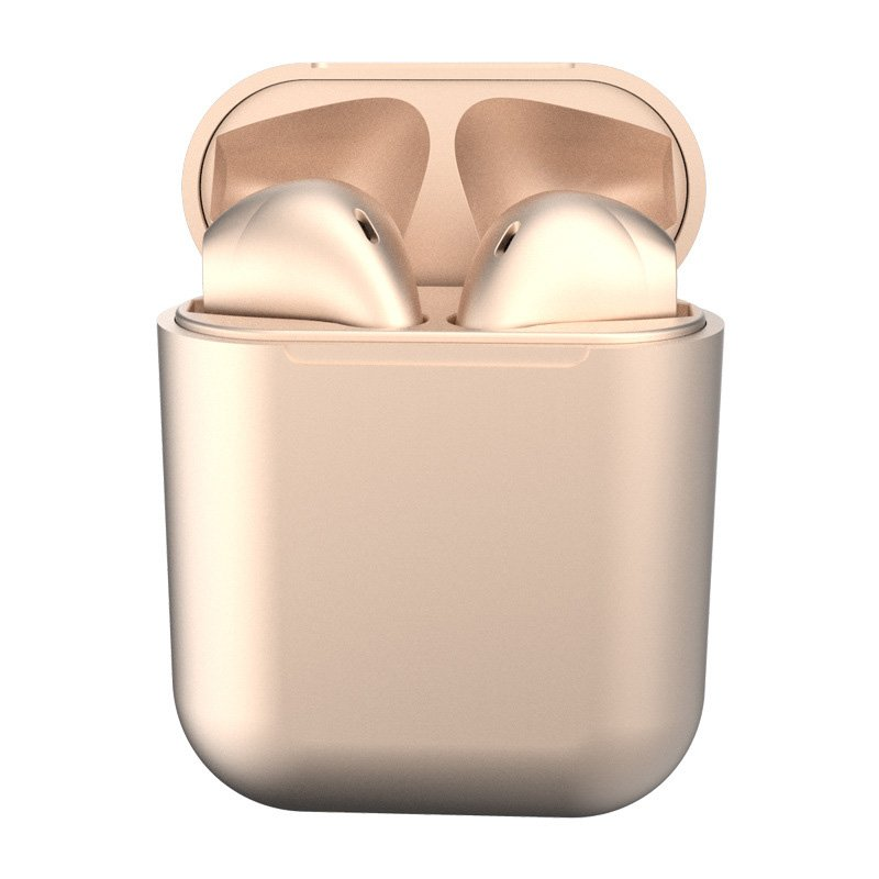 i12 TWS Bluetooth 5.0 Headset Wireless Headphone Earbuds Earphones for Phone Gold