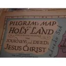 Vintage map of Israel: Pilgrim Map Holy Land Biblical Research Journey Deed Jesus Christ, 1942