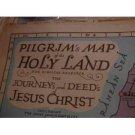 Vintage map of Israel: Pilgrim Map Holy Land Biblical Research Journey Deed Jesus Christ, 1942