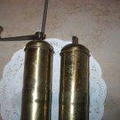 Vintage salt and pepper grinders. SET. Brass?