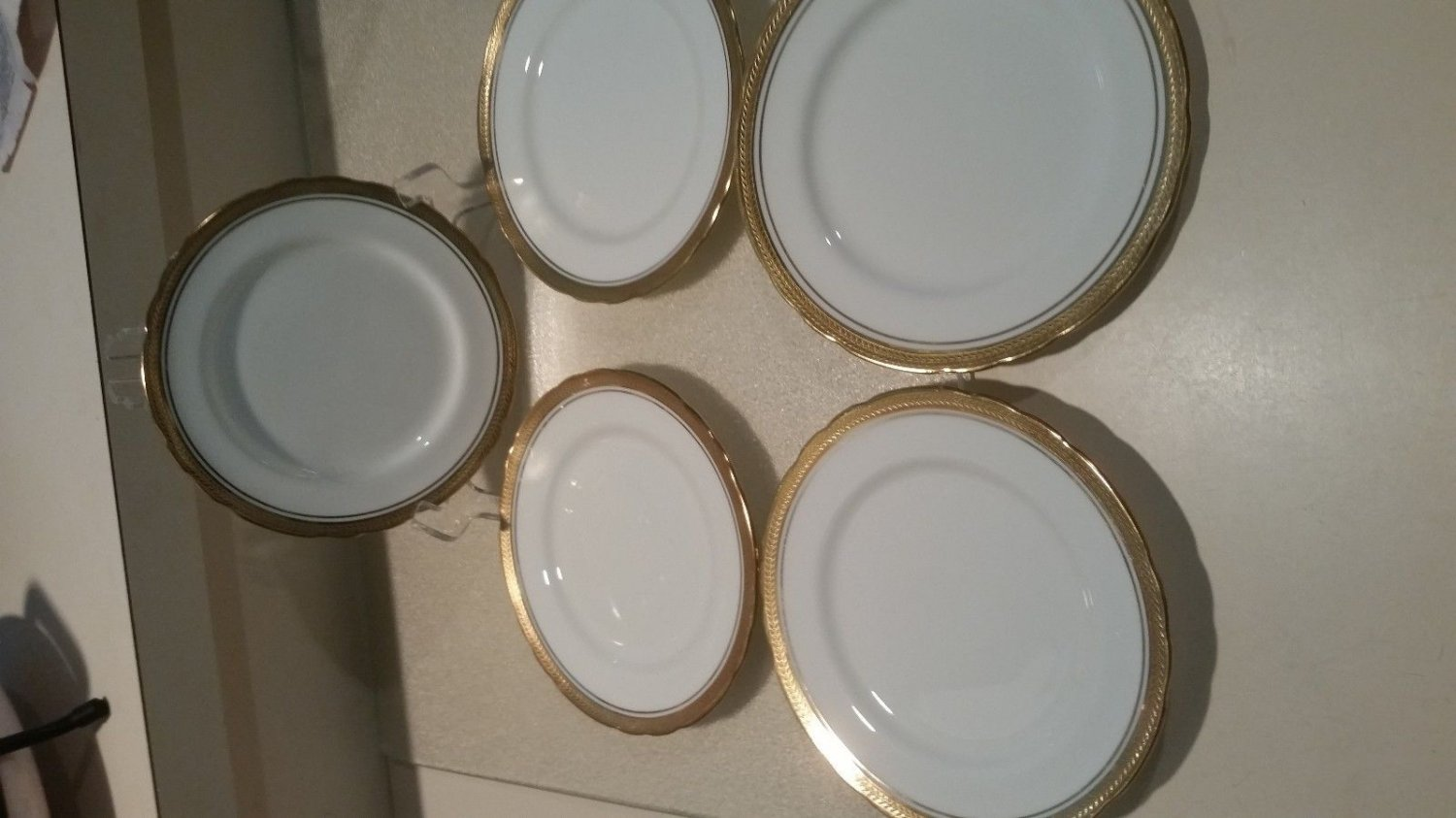"Lot of 5 Aynsley Elizabeth #7947 Bread & Butter 6 1/4"" Plate Excellent condition"