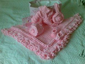 Hand Crocheted Baby Set