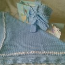 Hand Crocheted Baby Shawl and Cardigan