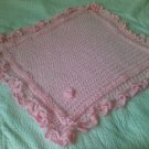 Baby Shawl Pink Square